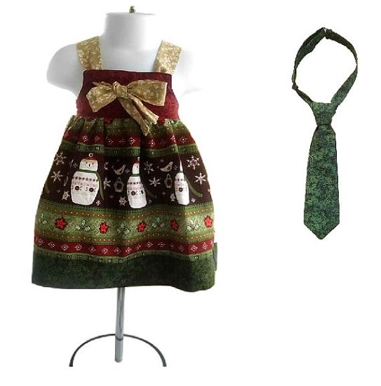 Christmas knot dress and tie set 54 99 twin outfits matching clot