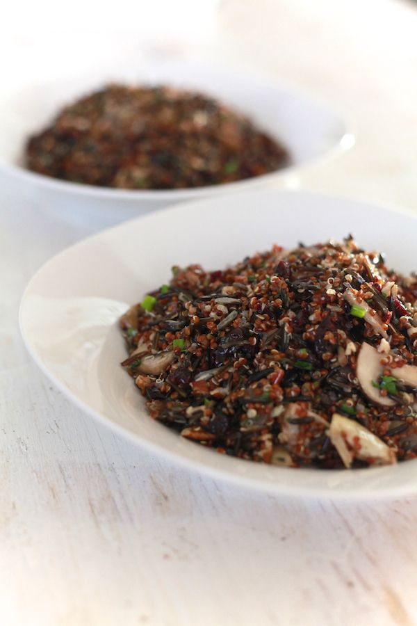 Wild Rice and Quinoa Salad with Mushrooms, Cranberries and Pecans | R ...
