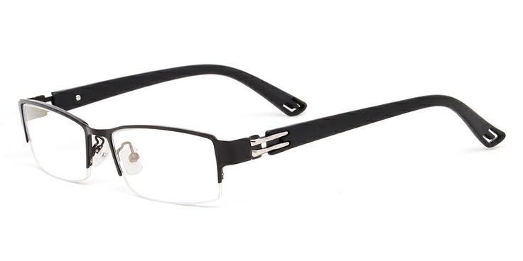 Another competitor of favorite glasses on line, with outstanding metallic luster, these semi-rimless glasses will never let you down. Dual stainless metal frame can protect the lenses effectively and the resilient plastic temples give super comfort. Three colors are in stock, black, blue and gunmetal. Also see: computer glasses, reading glasses