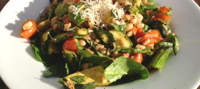 Roasted Spring Vegetable Farro Salad with White Beans