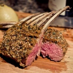 Rack Of Lamb With Dijon Glaze Over Wilted Baby Spinach Recipes ...