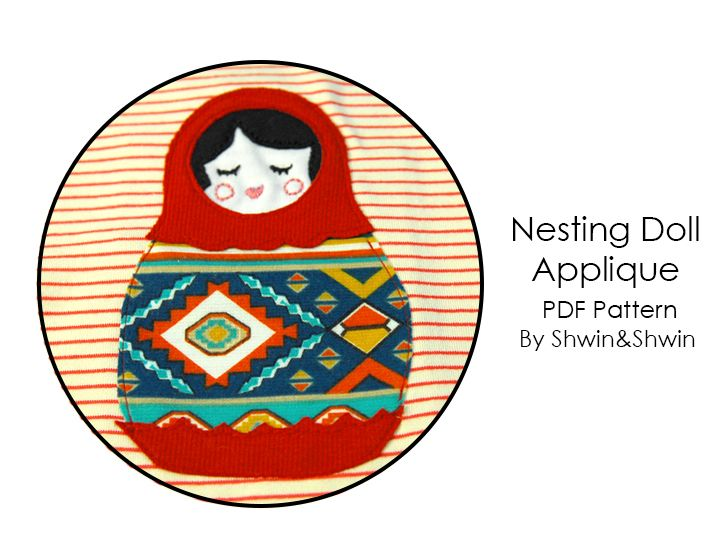 Shwin&Shwin: Nesting Doll Applique || Free PDF Pattern