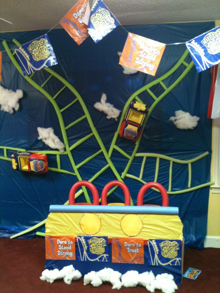 Colossal coaster vbs decorations kids club ideas pinterest