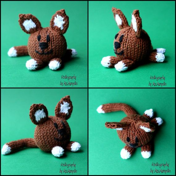 Knitting Patterns For Dogs And Cats : Minimeow knitting pattern for cat and dog toys - PDF pattern - instan?