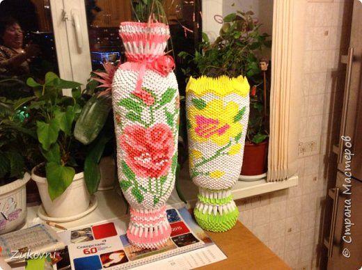 Большая напольная ваза своими руками из модулей 32