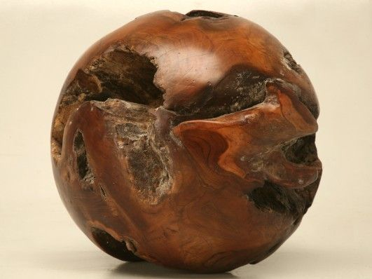 Polished wooden ball made from reclaimed teak these spheres make
