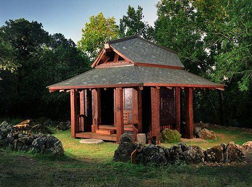 Japanese tea house design shed pinterest for Japanese garden shed