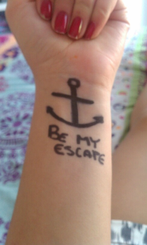 Be my escape my most recent tattoo fight like a warrior pinter