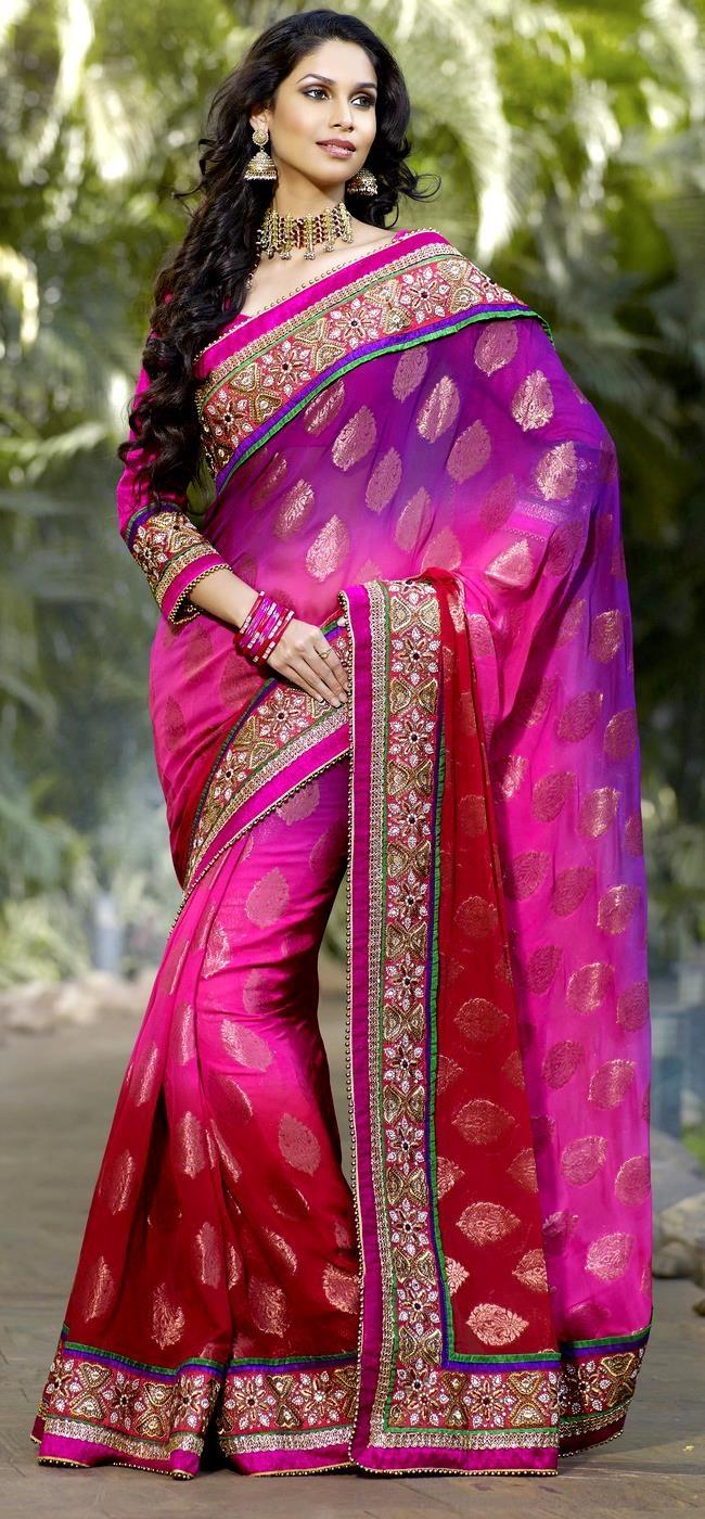 Jorjet upada saree designer suits and sarees pinterest