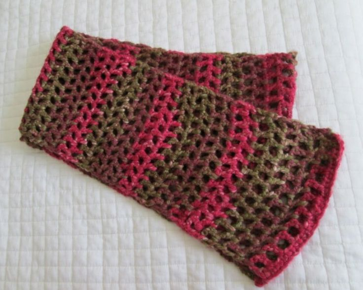 Open weave scarf (crochet) is done Crochet Projects ...