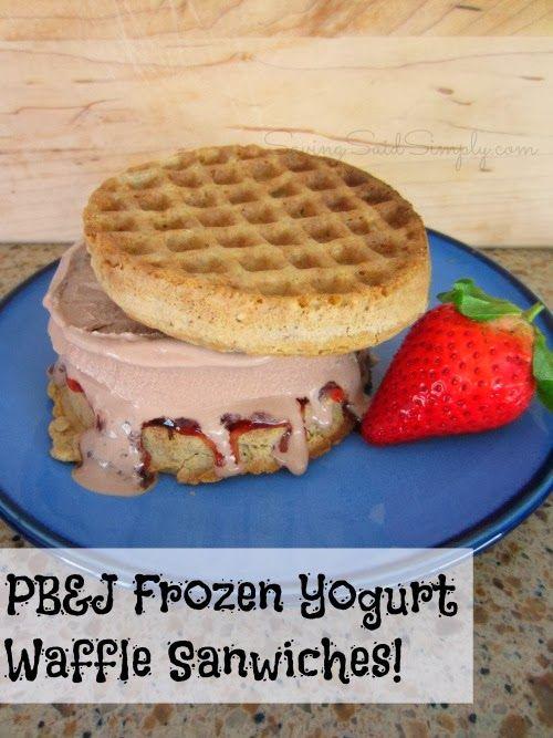 SavingSaidSimply.com: PB&J Frozen Yogurt Waffle Sandwiches