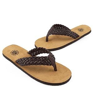 PP1153-BROWN) Mens and Womens Casual Flip Flops