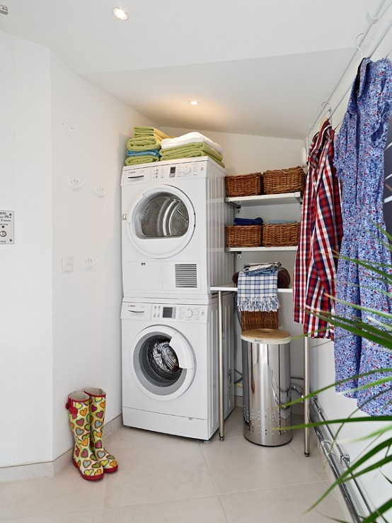 Small Laundry Room Garage And Mud Room Laundry Office