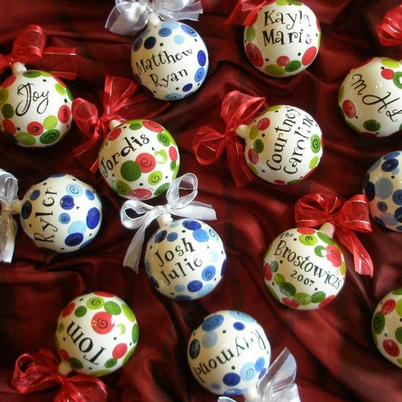 Personalized Christmas Ornament Hand Painted by CottageJoy, $20.00