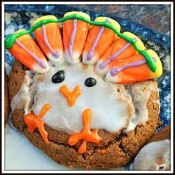 Pumpkin Molasses Cookies | Be Thankful Turkey Cookies/Cupcakes/Cakes ...