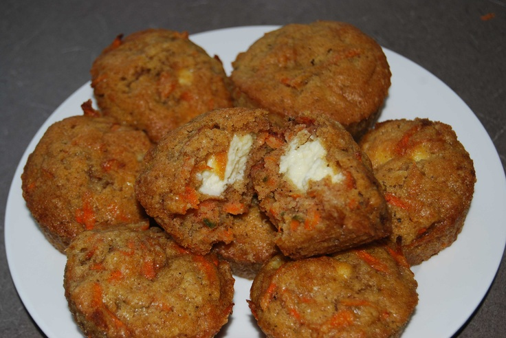 Carrot and Cream Cheese Muffins | Breakfast and brunch | Pinterest
