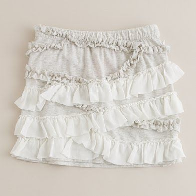DIY kid's skirt from a t-shirt ; For Bella