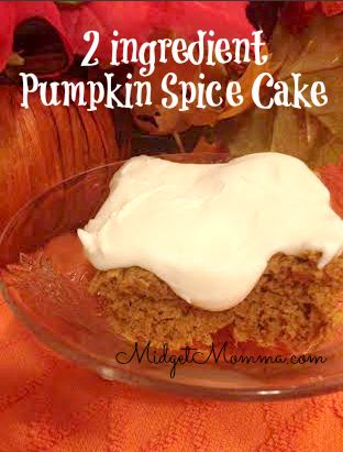 2 ingredient Pumpkin Spice Cake