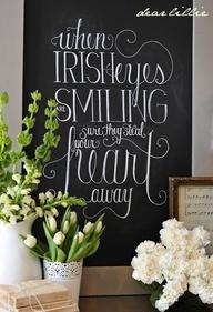 Irish quote. Fun St Patty's Day decor #stpatricksdaydecor #irishquotes