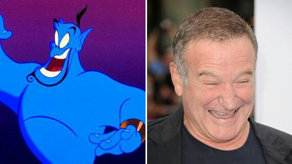 What he was best known as the Genie from Aladdin.