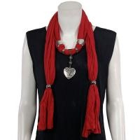 Jersey Knit Heart Pendant Scarf - Available in More Styles and Colors - $19.95