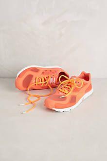 orange running shoes