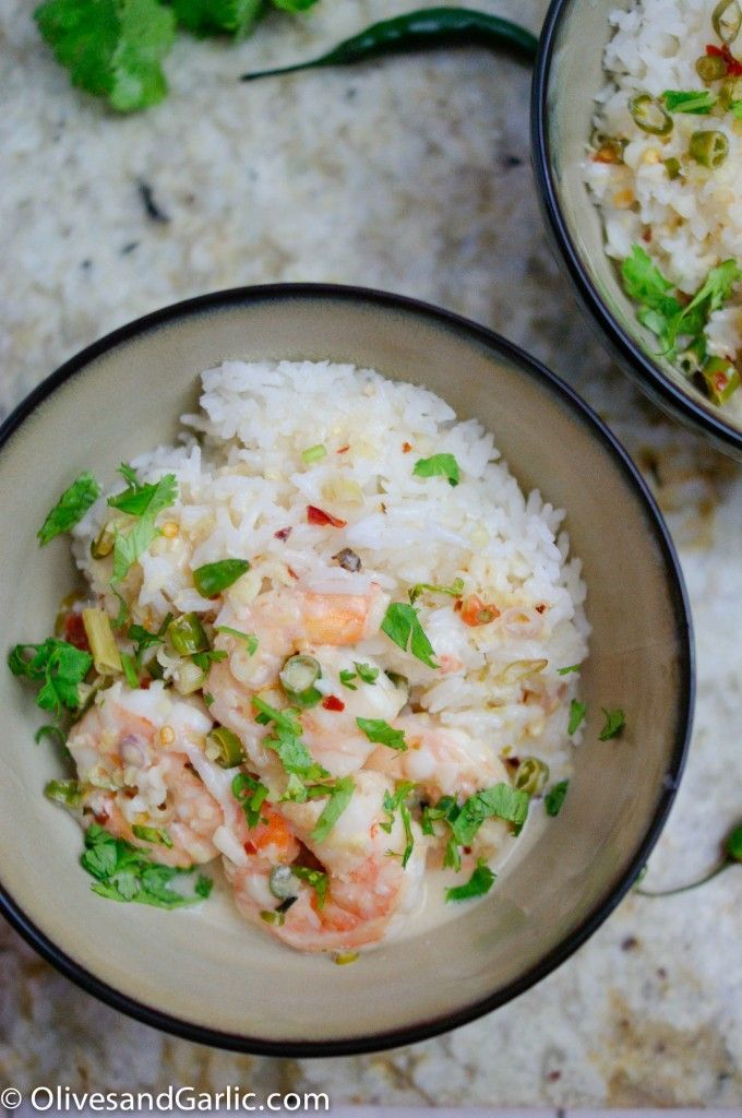 Shrimp in Spicy Coconut Broth. | FOOD! | Pinterest