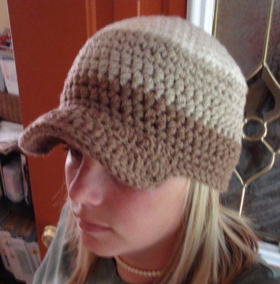 Crochet Baby Hat With Bill Pattern : Crochet Baseball Hat Hippie Rasta Bill Cap Visor Sun
