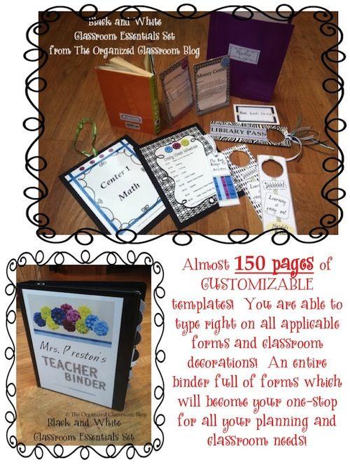 Organized Classroom Blog - mega pack of organizational tools