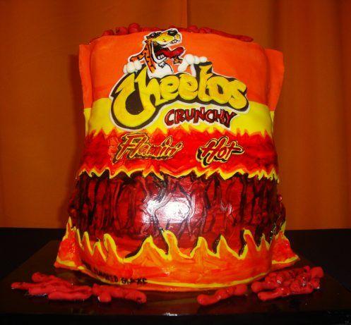 hot cheetos cake