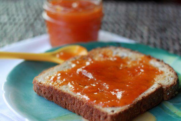 vanilla apricot jam. yummy on toast and in plain yogurt!