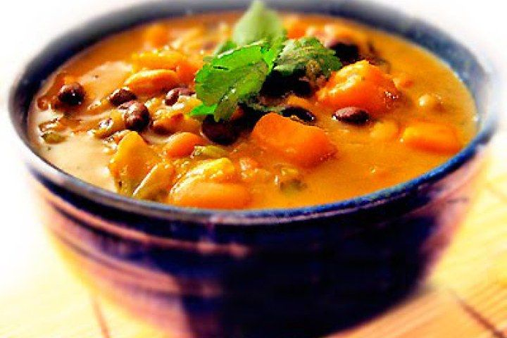 African Sweet Potato Soup Recipe with Peanut Butter, Black-eyed Peas ...