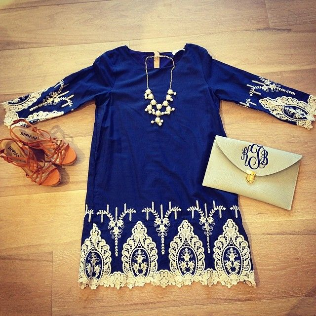 Bluetique Cheap Chic » That royal blue with the lace is perfect!