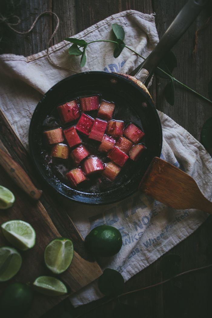 Rosemary Rhubarb Margarita | Adventures in Cooking