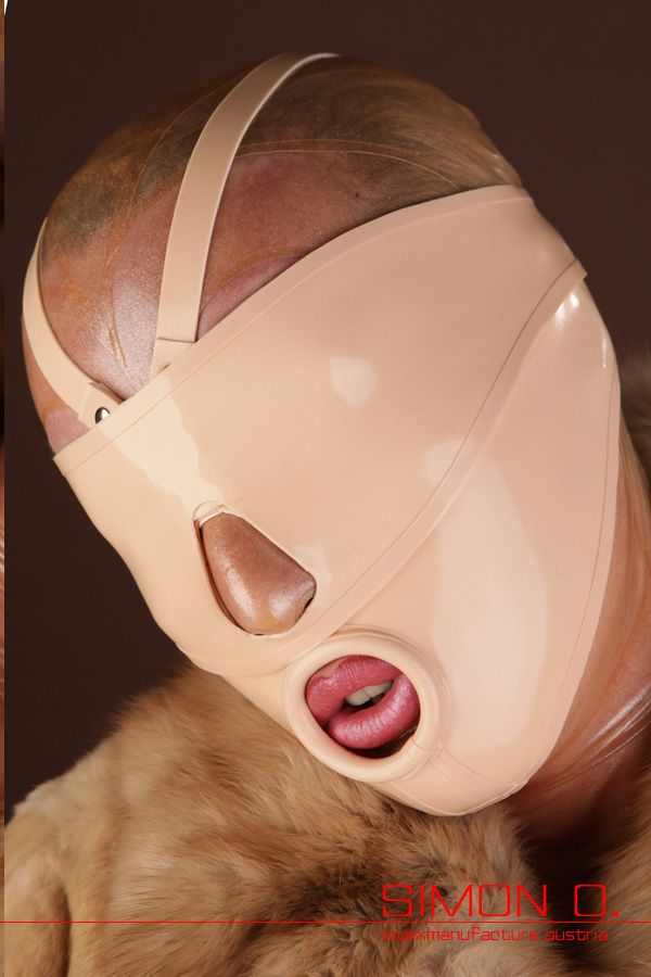 Fetish hood leather mask rubber