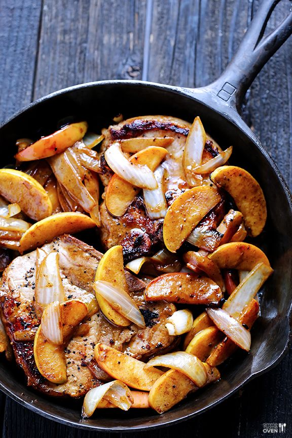 Apple Cinnamon Pork Chops Recipe ~ a simple and delicious one-skillet ...