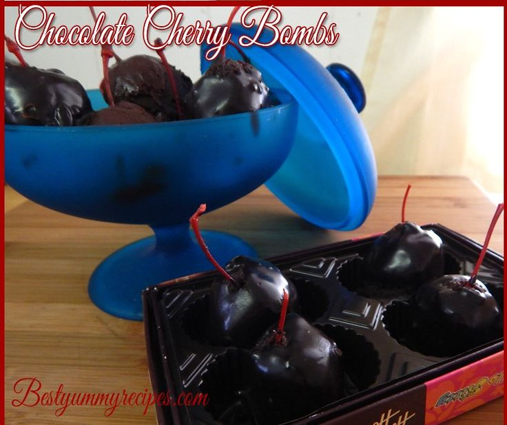 Chocolate Cherry Bombs   DESSERT & SWEET YUMMIES   Pinterest