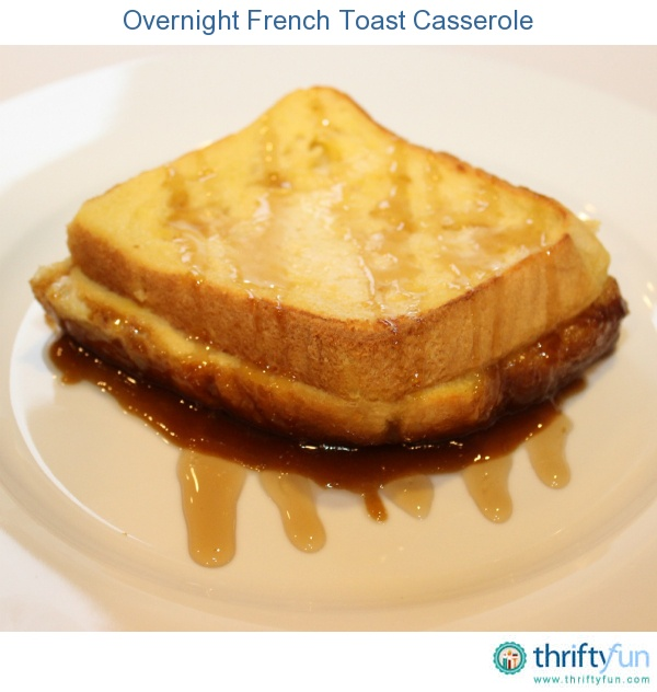 making an overnight French toast casserole. Making a French toast ...