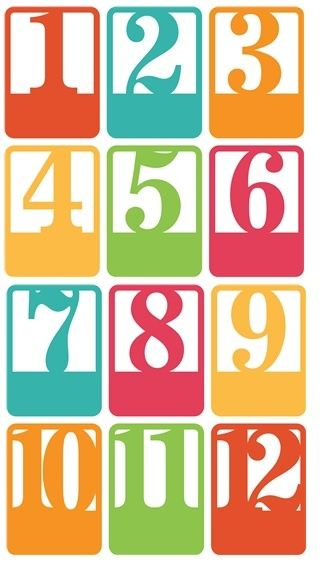 Pin by terri prosser on number sets pinterest for 12 days of christmas table numbers