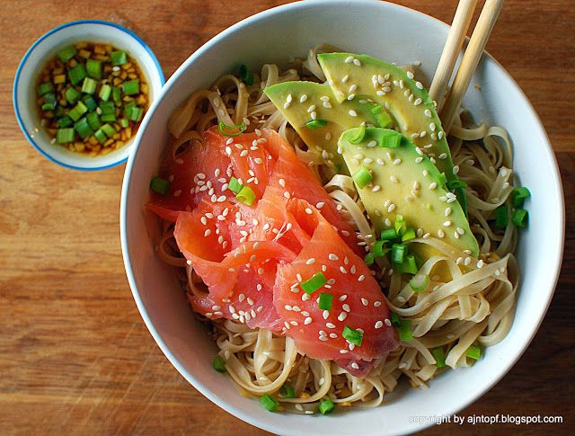 Pasta w/ Smoked Salmon and Avocado | food | Pinterest