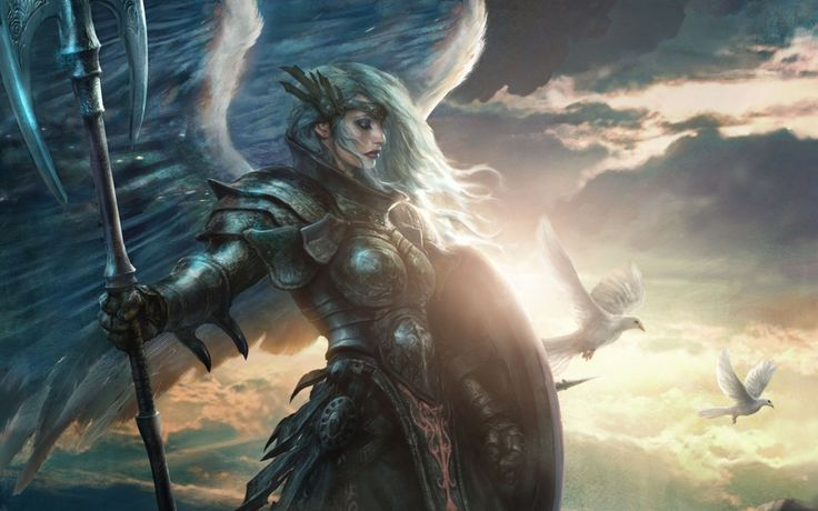 Angelic Female Warrior   Angels and Demons   Pinterest