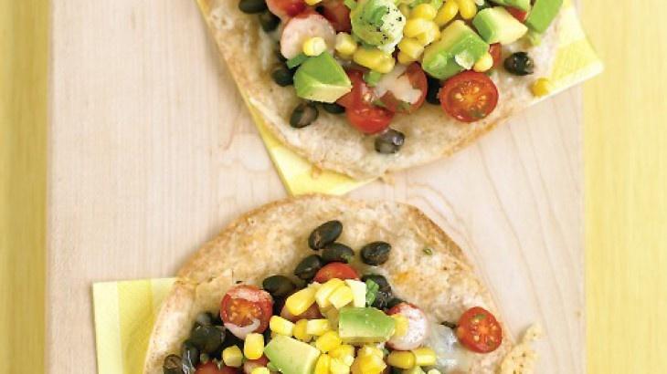 Black-Bean Tostadas with Corn Relish | Recipes | Pinterest