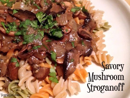 My Mushroom Stroganoff made by the Veggie Girl!