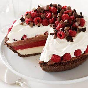 ... for a sweet twist on Neapolitan ice cream pie. #dessert #valentine