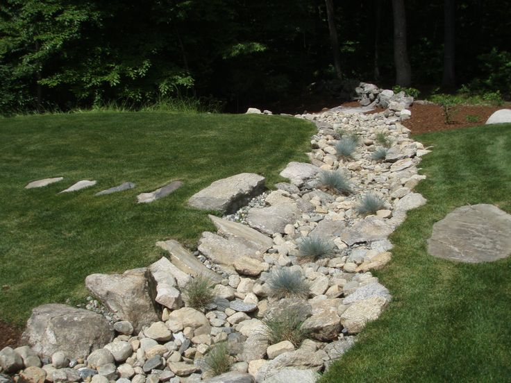 Dry river bed Ideas for the new house Pinterest