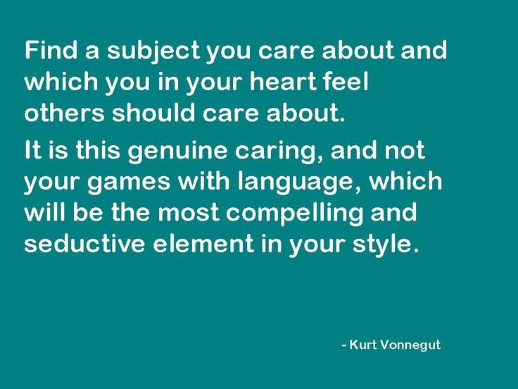 Kurt Vonnegut Writing