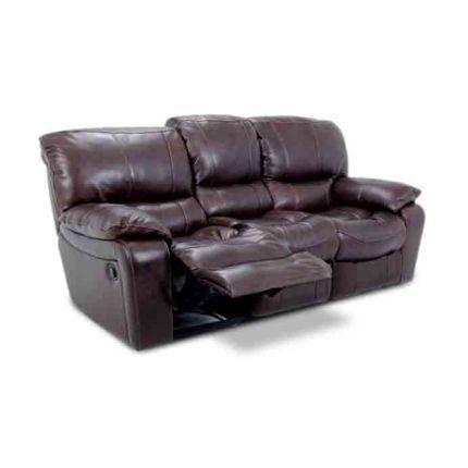 "89"" Brown Leather Match Sofa Cheers Manwah • U8625 L3"