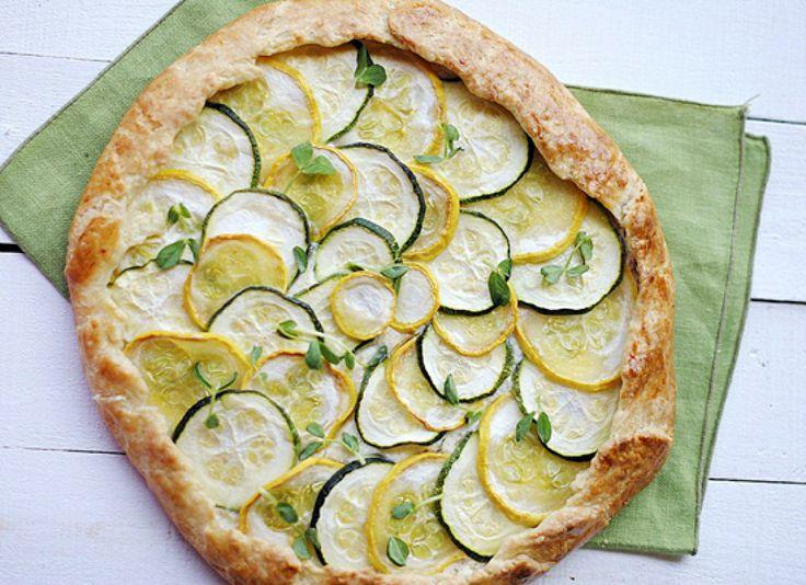Zucchini, Squash And Ricotta Galette | FOOD | Pinterest