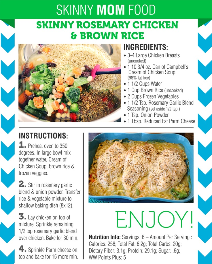 Skinny Rosemary Chicken and Brown Rice | Recipe