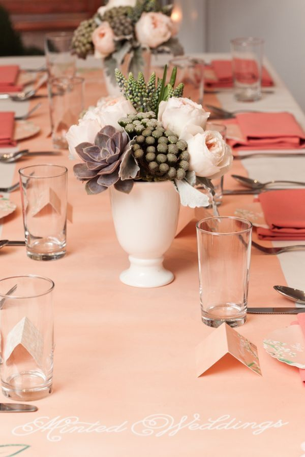 Breeze of Romance Coral Tablescapes
